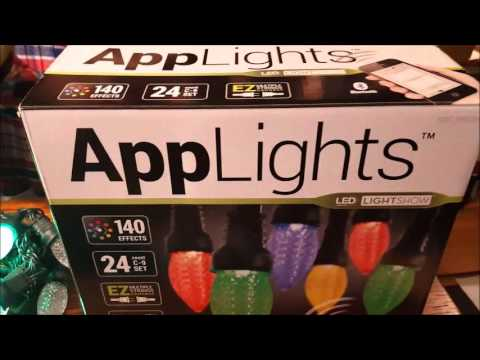 App Lights LED Lightshow Bluetooth C9 24 COUNT CHRISTMAS LIGHT Applights C-9