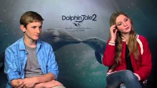 """Dolphin Tale 2: Cozi Zuehlsdorff """"Hazel Haskett"""" & Nathan Gamble """"Sawyer Nelson"""" Interview"""
