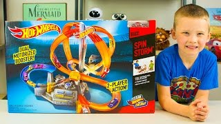 Hot Wheels Race Spin Storm Playset Toy Cars for Kids by Mattel Kinder Playtime