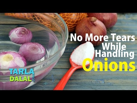 No more tears while handling onions by Tarla Dalal