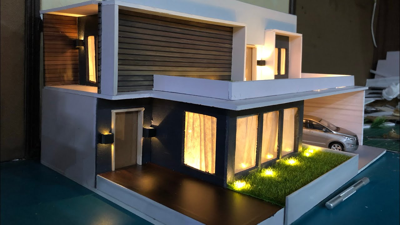 Diy Miniature Modern Villa Model House