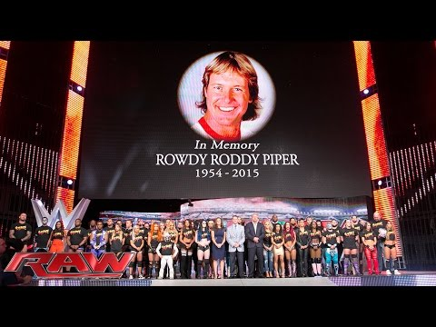 "The entire WWE roster honors WWE Hall of Famer ""Rowdy"" Roddy Piper: Raw, Aug. 3, 2015"