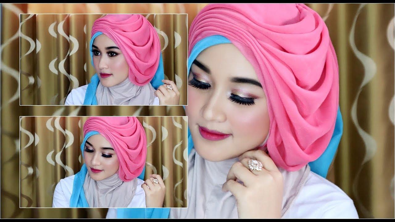 Cara Hijab Segi Empat Wisuda Wedding Dengan Beragam Pariasi Dan