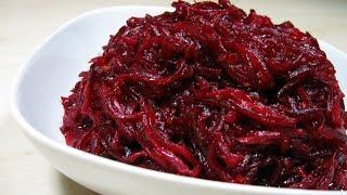 Свекольный салат за 5 минут / Обалденно вкусный, попробуйте не пожалеете
