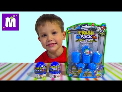 видео: Трешпэк набор игрушек сюрприз в коробочке распаковка trashpack