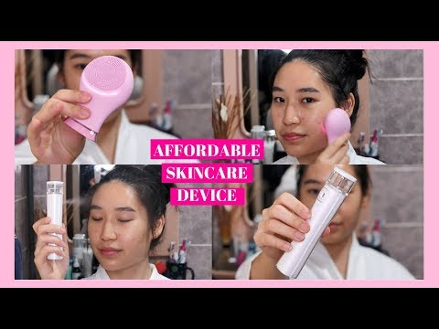 $20 Affordable Skincare Device ➡️ IUIGA Silicone Cleansing Device & Facial Mist Spray || Foreo Dupe
