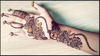 Beautiful Shaded Arabic Mehendi Henna Design 2017   Tutorial video   Learn how to make