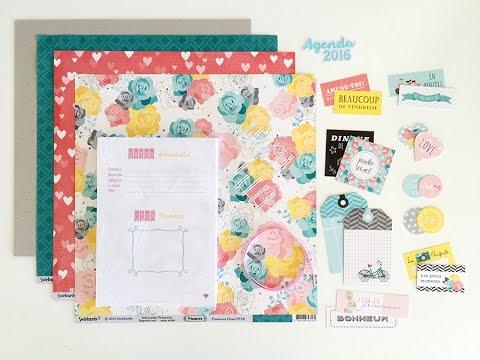 C mo montar y decorar tu propia agenda utilizando el kit agenda 2016 tutorial scrapbook - Como decorar una agenda ...
