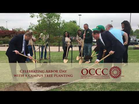 Oklahoma City Community College Celebrating Arbor Day