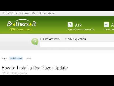 How-To Install A Realplayer Update