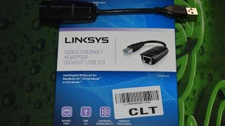 Linksys USB Ethernet Adapter Gigabit Unboxing