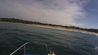 skiboat beaching at zinkwazi south africa