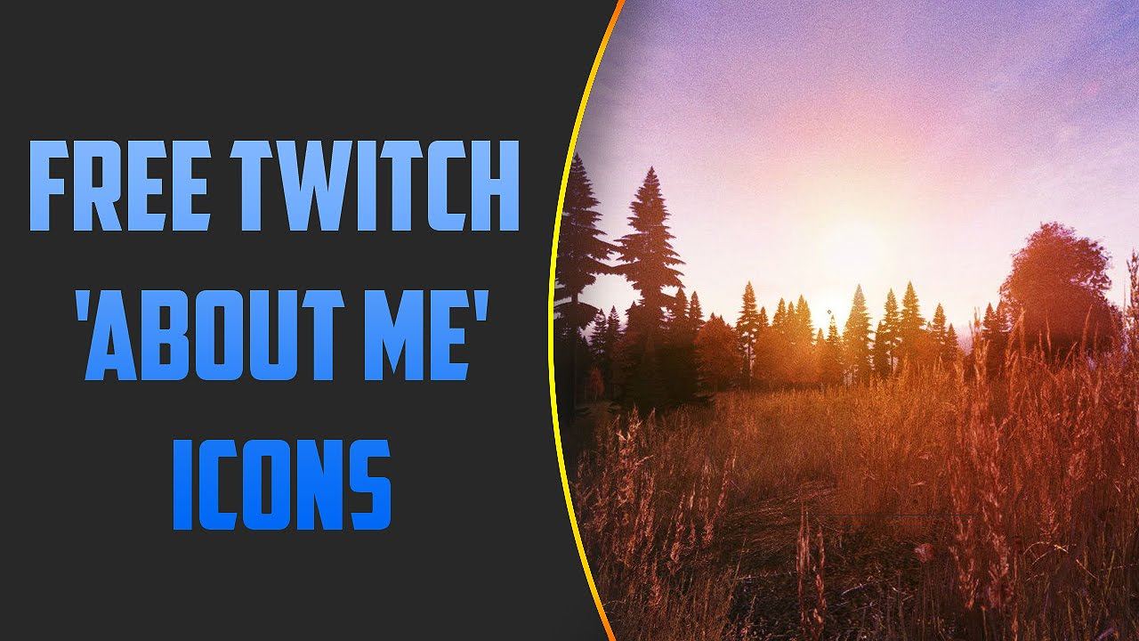 Free Twitch About Me Icons Youtube