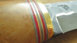 Curly birch wood in knife handle - cross cut by thetopicala