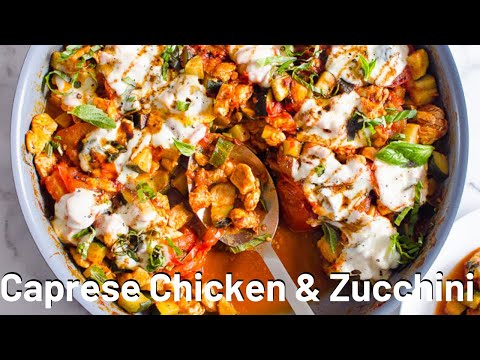 Caprese Chicken and Zucchini | LOW CARB