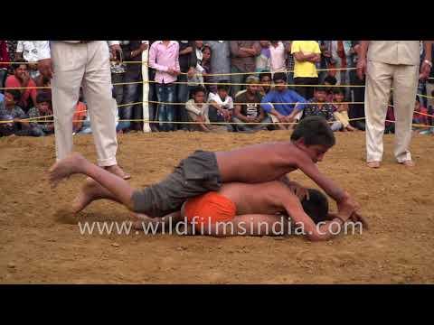 Mud wrestling Kushti : Dangal session in India