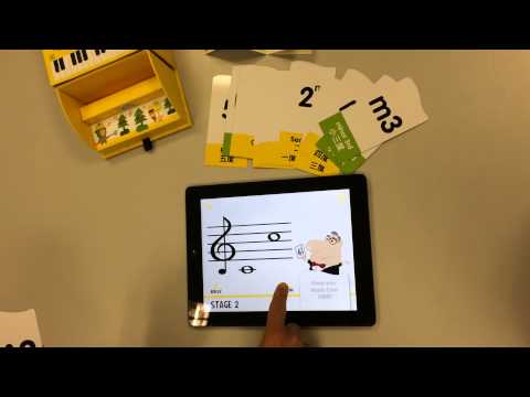 How to Play with Your Music Cards on iPad: Little Musician - Music Intervals