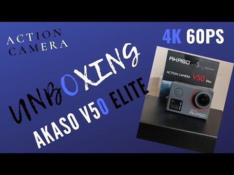 AKASO V50 Elite Action Camera - 4k 60ps Action Camera -Image Stabilization | Unboxing