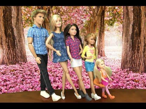 Chị em búp bê Barbie, Skipper, Stacie, Chelsea đi studio chụp hình gia đình