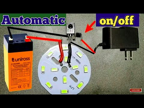 Old cfl circuit to automatic on off light | switch circuit from old cfl circuit