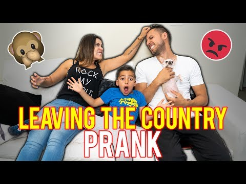 Leaving The Country Prank! My Boyfriend CRIED!!! | The Royalty Family