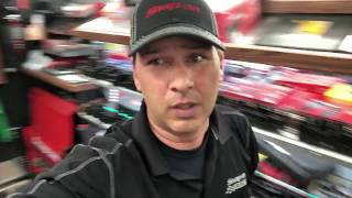 Snap on dealer delivers a used box, a look at the mini ductor and accessories
