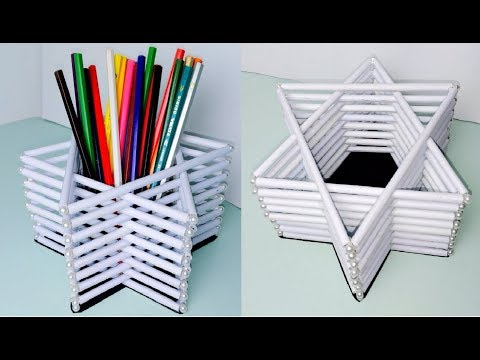 Paper PEN HOLDER | DIY Easy Pen/Pencil Stand Idea |