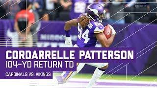Cordarrelle Patterson's Amazing 104-Yard Kickoff Return TD! | Cardinals vs. Vikings | NFL