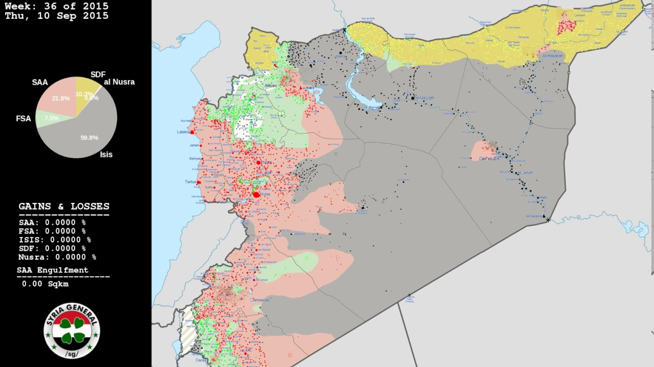 New Syrian Civil War Map Sequence YouTube - Syria interactive map