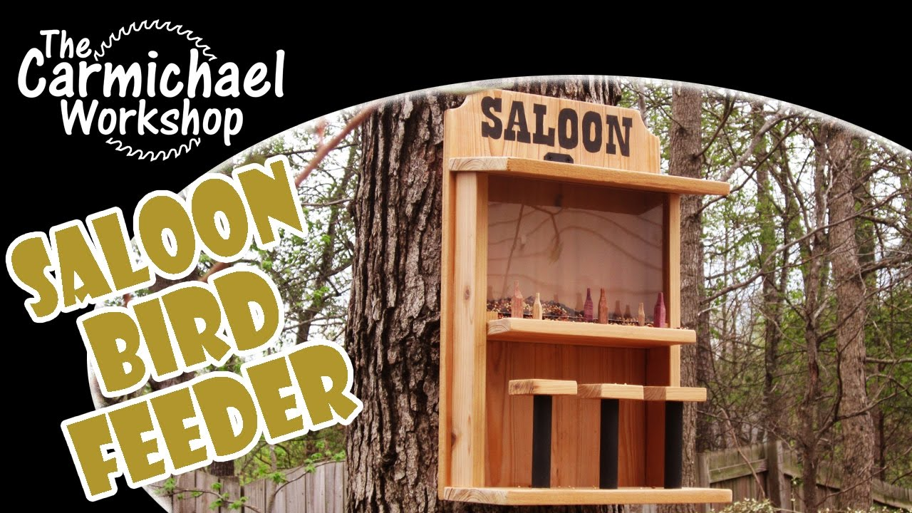 Make A Saloon Bird Feeder Easy Diy Weekend Woodworking