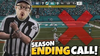 REFS Decide Huge Playoff Game!? Madden 19 Franchise Wheel #12