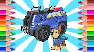 Let's Draw Kids Drawing Chase with his Police Car Paw Patrol Series Ep 10