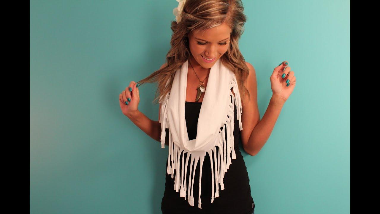 diy fringe scarf tutorial