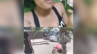 ?IVANY HEAD BUSS PT2 Jamaican fight? Cops get involved ivany got escorted?