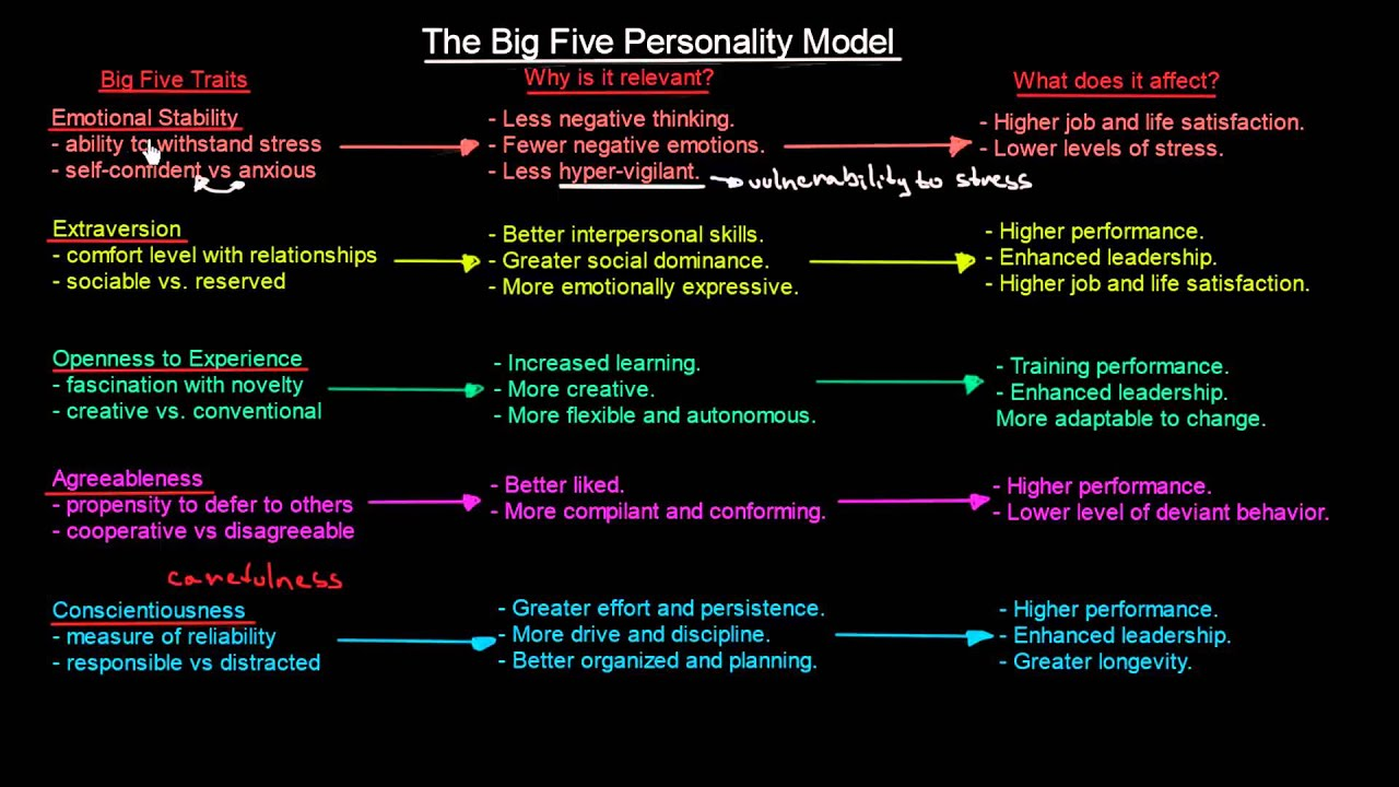 The Big Five Personality Model | Organisational Behavior | MeanThat - YouTube