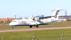 Flybe Nordic ATR ATR 72-212A Landing in Tallinn