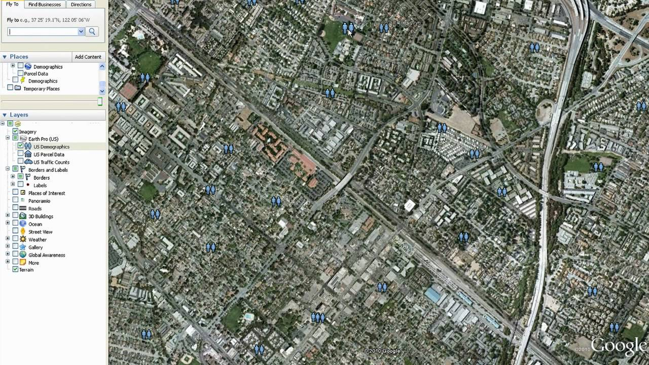Google Earth Pro Data Layers