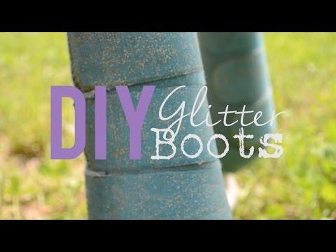 DIY Glitter SMB Boots