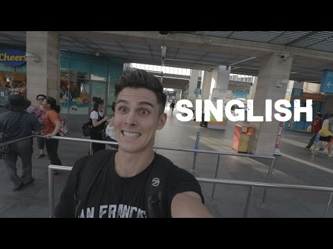 Singaporean english in a Taxi (exploring Singapore's Sentosa island)