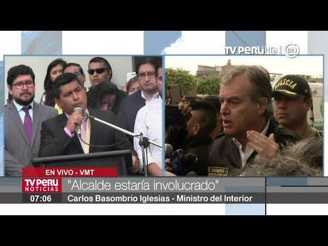 """Ministro Basombrío: """"Municipalidad de Villa María del Triunfo está totalmente intervenida"""""""