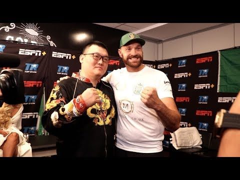 TYSON FURY MEETS VINCE VAUGHN, JUNLONG ZHANG (19-0 CHINESE HEAVYWEIGHT) & THE PRESIDENT OF ATARI