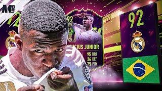 FIFA 19 FUTURE STAR VINICIUS JUNIOR REVIEW | 92 VINICIUS JUNIOR PLAYER REVIEW FIFA 19 ULTIMATE TEAM