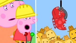Peppa Pig Français 🧡 Maman et Papa Pig emmènent Peppa et Georges à Chantierland 🧡 Dessin Animé