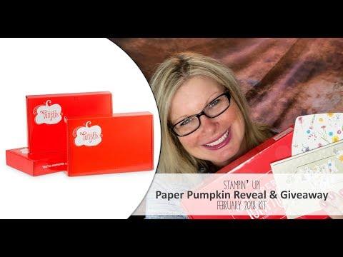 *Spoiler Alert* February 2018 Paper Pumpkin Kit Reveal and Giveaway