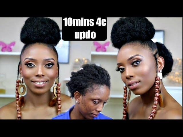 10mins Short 4c Natural Hair Protective Hairstyle Tutorial Yemi