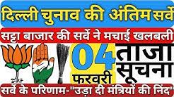 Delhi Election Survey फलौदी सट्टा बाजार की 70 सीटों पर अंतिम सर्वे रिपोर्ट ने दिल्ली में खलबली मचाई