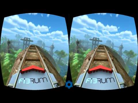 VR glass Roller Coaster 3D SBS 1080p  Virtual Reality 360 video