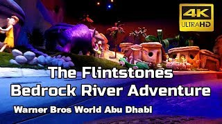 The Flintstones Bedrock River Adventure - ON RIDE Warner Bros World Abu Dhabi 4k 👍👍👍