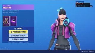*NEW* FREESTYLE SKIN! August 23 FREE SKINS! - Fortnite Item Shop Live (Fortnite Battle Royale)