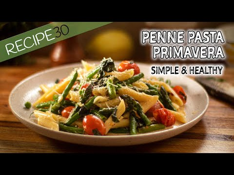 Healthy Pasta Primavera Quick to make